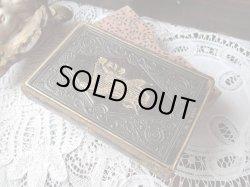 画像1: 【革エンボス植物文様装飾金の竪琴柄祈祷書】【1883年】ドイツ・アンティーク&ヴィンテージ聖品