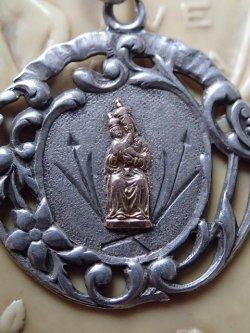 画像5: 【花植物透かし模様】【聖母子金鍍金】フランス・アンティーク&ヴィンテージ聖品